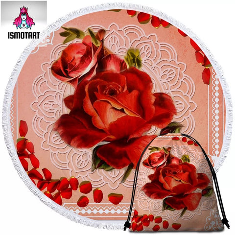 Rose By Ismot Esha Round Towel