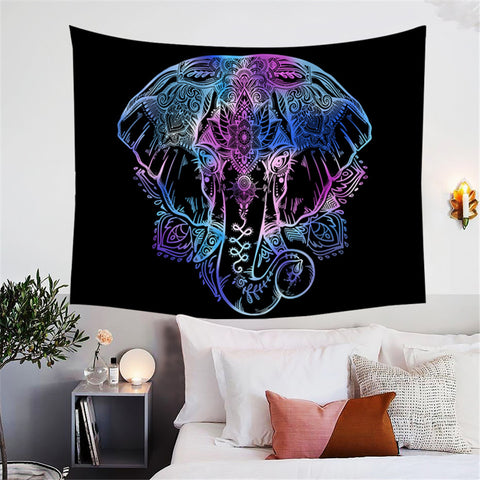 Boho Elephant Wall Tapestry