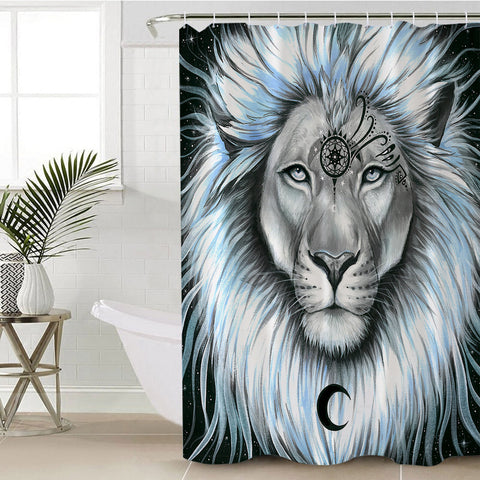 Lion Galaxy By Pixie Cold Art Shower Curtain