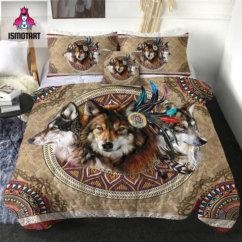 Wolves by Ismot Esha Comforter Set