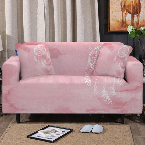 Pink Dreamcatcher Sofa Cover