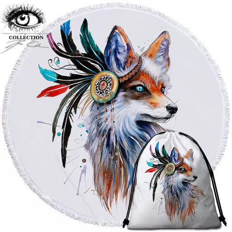 Fox By Pixie Cold Art Round Towel
