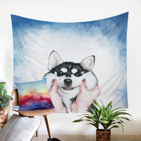 Chubby Cheeks Wall Tapestry