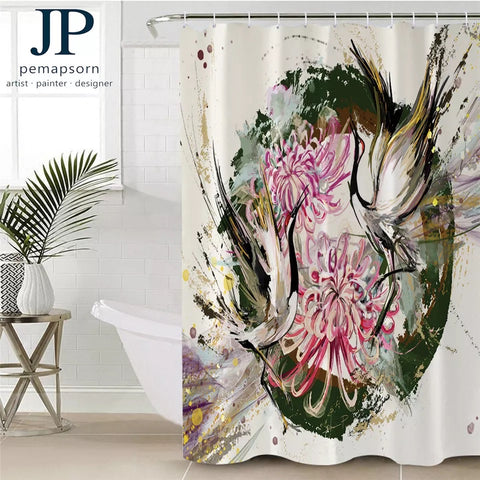 Bird By JP.Pemapsorn Shower Curtain