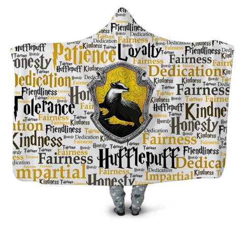 Hufflepuff Traits Hooded Blanket