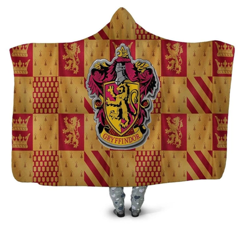 Gryffindor Checkered Hooded Blanket
