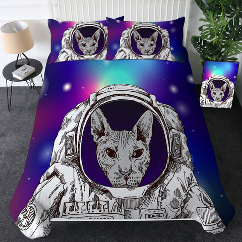 Cosmic Astronaut Sphynx Bedding Set