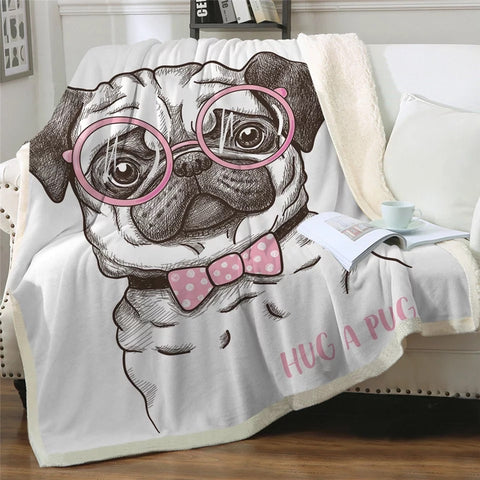 Hug A Pug Throw Rug