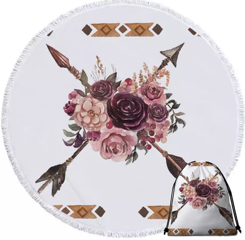 Indian Bouquet Round Towel