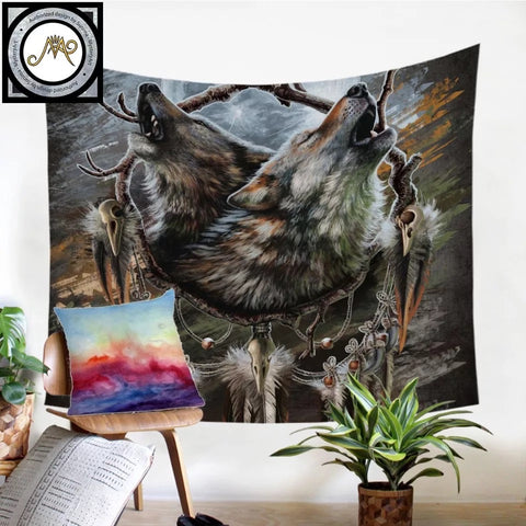 A Song for the Moons Reflection By SunimaArt Wall Tapestry