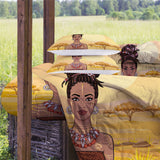 African Young Lady Comforter Set
