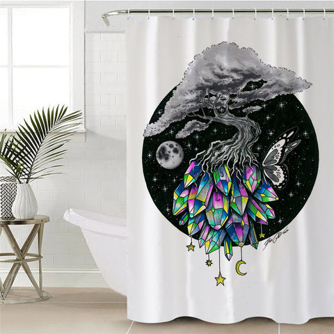 Crystal Tree By Pixie Cold Art Shower Curtain