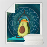 Yoga Avocado Throw Rug