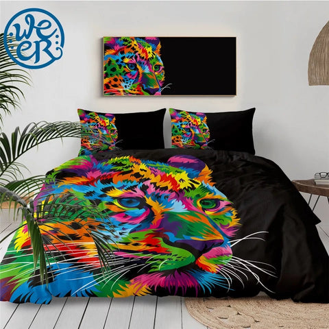 Fast & Focused Cheetah By Weer Bedding Set