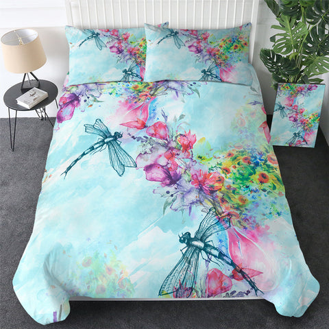 Two Dragonflies Bedding Set