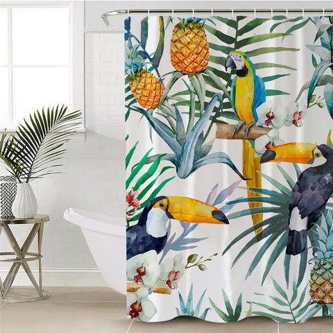 Toucan & Macaw Shower Curtain