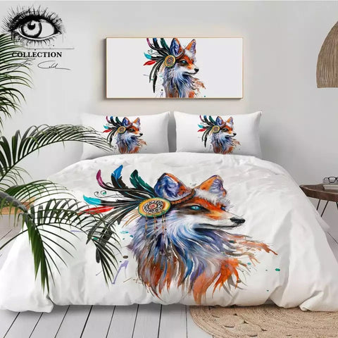 Fox By Pixie Cold Art Bedding Set