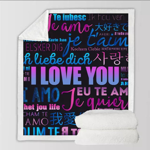 I Love You In Many Languages Throw Rug