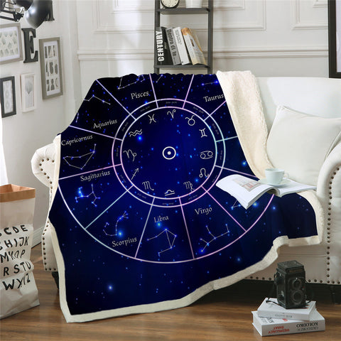Constellations Star Signs Throw Rug