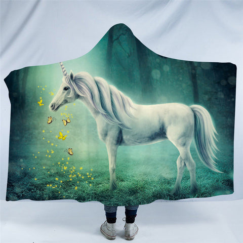 Unicorn (Green) Hooded Blanket