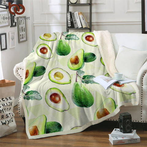 Avocados Throw Rug