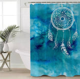 Blue Dreamcatcher Shower Curtain
