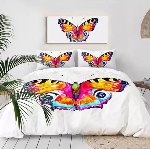 Watercolour Butterfly Bedding Set