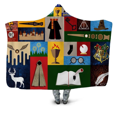 Harry Potter Symbols (3 Styles) Hooded Blanket
