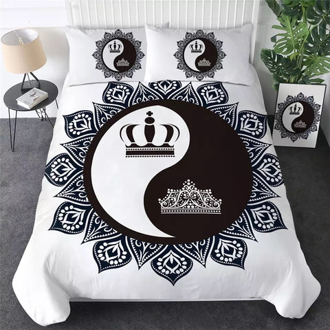 Royal Crowns Yin & Yang Bedding Set