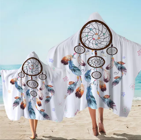 Five Tier Dreamcatcher Hooded Towel