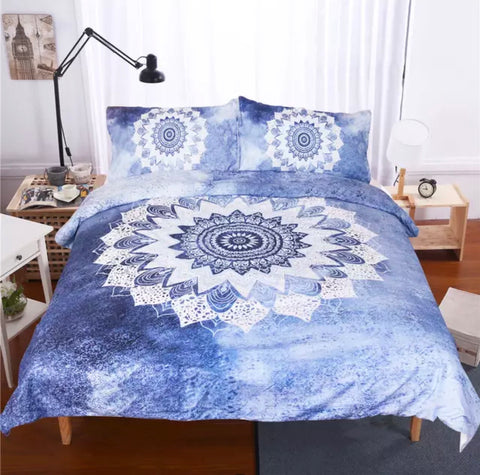 Cobalt Blue Mandala Bedding Set