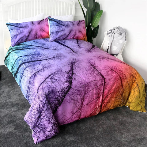 Rainbow Tree Tops Bedding Set
