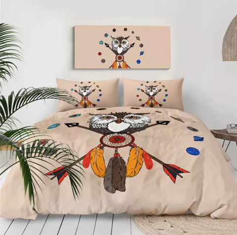 American Indian Owl Dreamcatcher Bedding Set
