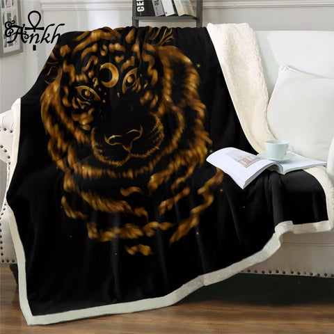 Tiger By Taemin Ankh Throw Rug