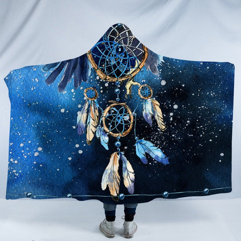Bald Eagle Dreamcatcher Hooded Blanket