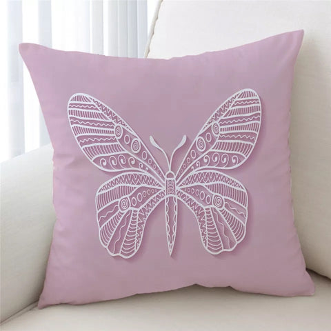 Pink Butterfly Cushion Cover