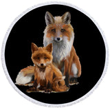 Fox & Cub Round Towel