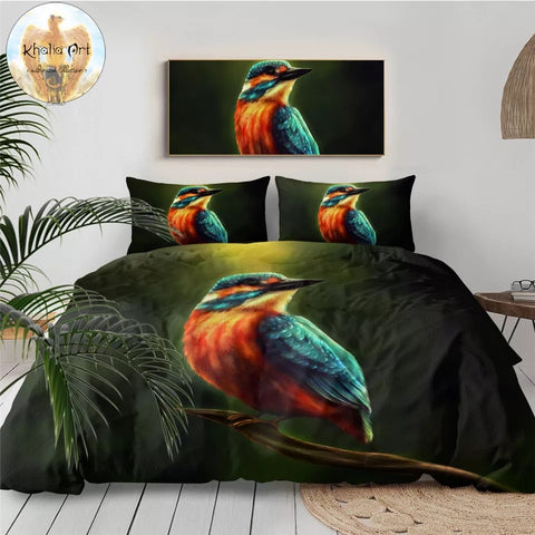 Kingfisher By KhaliaArt Bedding Set