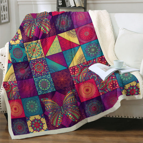 Butterfly Quilting Throw Rug