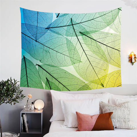 Transparent Leaves Wall Tapestry