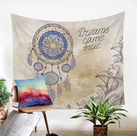 Dreams Come True Dreamcatcher Wall Tapestry