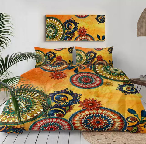 Mexican Mandala Bedding Set
