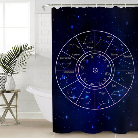 Constellations Star Signs Shower Curtain