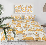 Corgi Poses Bedding Set