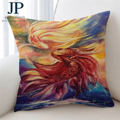 Fishes By JP.Pemapsorn Cushion Cover
