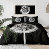 Dandelion (Black) Bedding Set