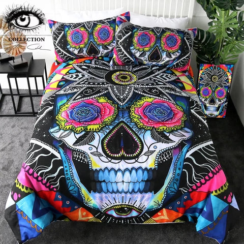 Sugar Skull By Pixie Cold Art Bedding Set