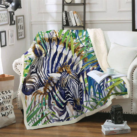 Zebras Throw Rug