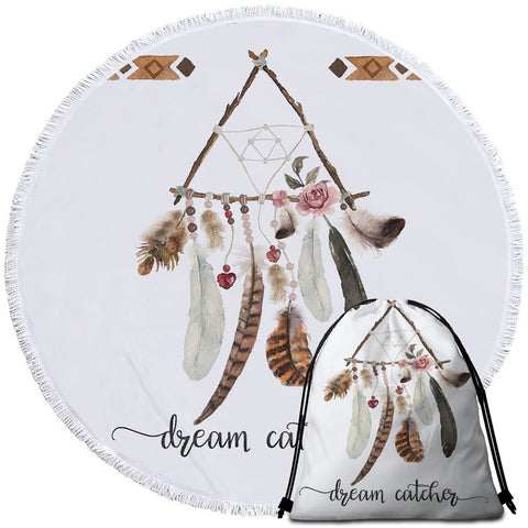 Triangle ~Dream Catcher~ Round Towel
