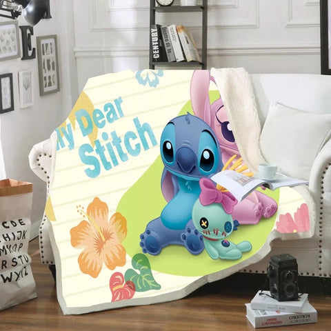 My Dear Stitch Throw Rug